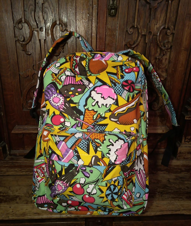 рюкзак комикс граффити