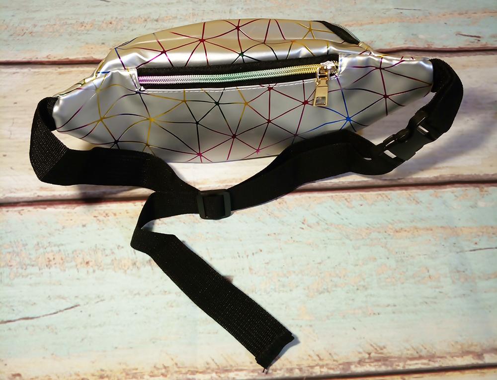 сумка кошелек на пояс голографическая